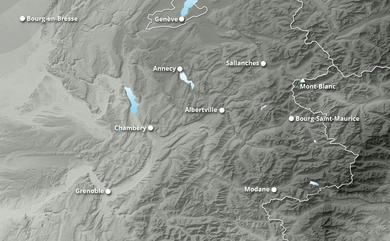 Prévisions cumul de chutes de neige Alpe du Nord jusqu'à 10 jours
