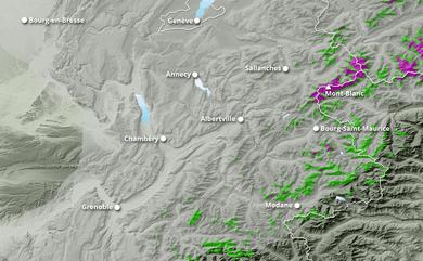 Cumul neige total 1 à 10 jours Alpes du Nord