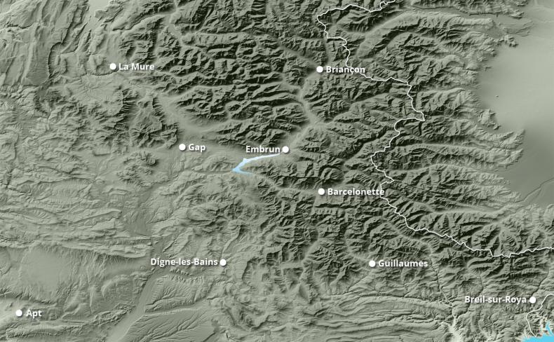 Enneigement total à 10 jours GFS 27km  Alpes du Sud