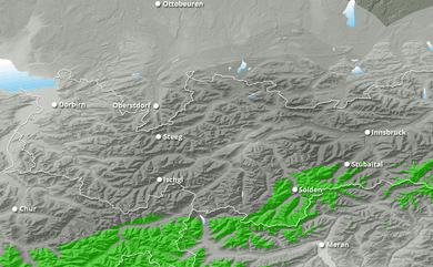 Cumul neige total 1 à 10 jours Autriche Ouest