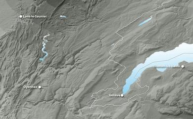 Prévisions cumul de chutes de neige Le Jura jusqu'à 10 jours