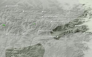 Cumul neige total 1 à 10 jours Pyrénées Est