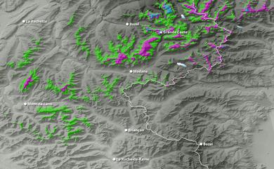 Prévisions cumul de chutes de neige Savoie, Haute-Alpes jusqu'à 10 jours