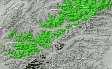 Cumul neige total 1 à 10 jours Savoie, Hautes-Alpes