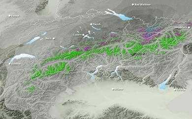 Cumul neige total 1 à 10 jours Suisse