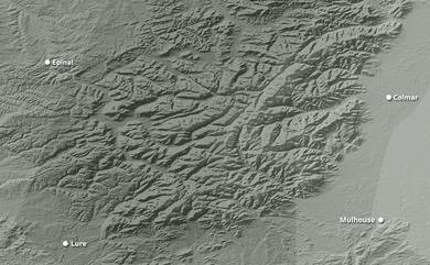 Prévisions cumul de chutes de neige Les Vosges jusqu'à 10 jours