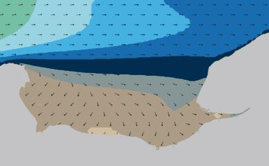 Prévisions de houle HD 96h Baie de Seine, Le Havre WAM 1km