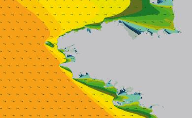 Prévisions Houle côte Bretagne prévisions HD WAM 1km