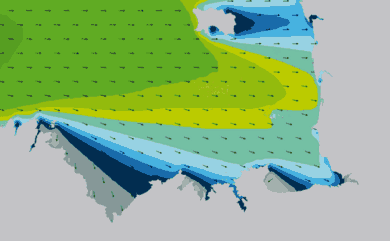 Prévisions de houle HD 96h Côtes d'Armor, Ille et Vilaine WAM 1km