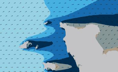 Prévisions de houle HD 96h Nord Cotentin, Cherbourg WAM 1km