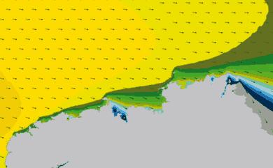 Prévisions Houle Nord Finistère modèle HD WAM 1km