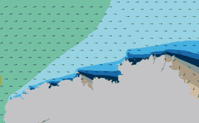 Prévisions de houle HD 96h Nord Finistère WAM 1km