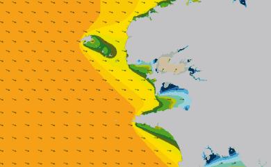 Prévisions houle Pointe Bretagne prévisions HD WAM 1km