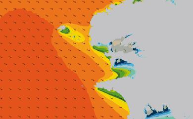 Prévisions de houle HD 96h Pointe Bretagne, Finistère WAM 1km