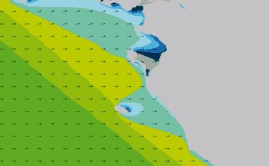 Prévisions de houle HD 96h Vendée, Loire Atlantique Sud WAM 1km