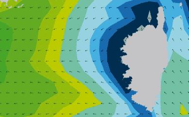 Prévisions de houle HD 96h Corse WAM 5km