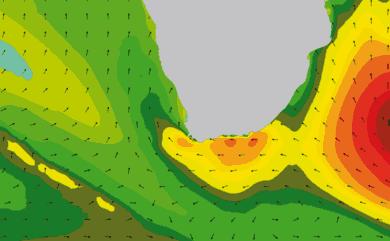 Prévisions de houle 1 à 10 jours Afrique du Sud WAM 54km