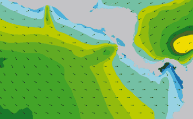 Prévisions de houle 1 à 10 jours Amérique Centrale, Pacifique WAM 54km