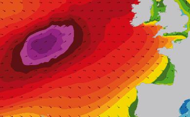 Prévisions de houle 1 à 10 jours Atlantique Ouest Europe WAM 54km