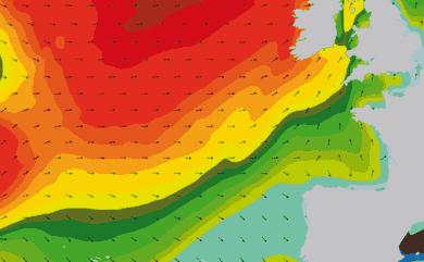 Prévisions de houle 11 à 16 jours Atlantique Ouest Europe WAM 54km