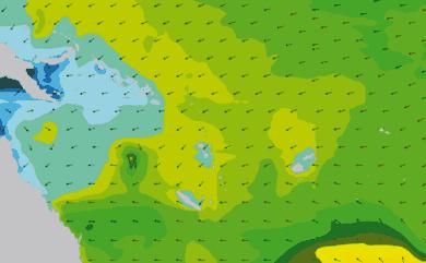 Prévisions de houle 1 à 10 jours Mer de Corail, Pacifique WAM 54km