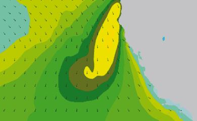 Prévisions de houle 11 à 16 jours Californie WAM 54km