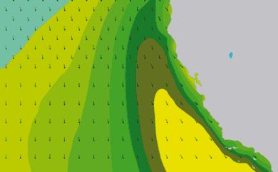 Prévisions de houle 1 à 10 jours Californie WAM 54km