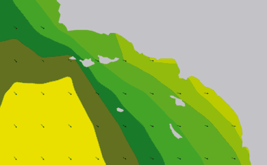 Prévisions de houle 1 à 10 jours Californie du Sud WAM 54km
