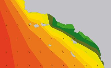 Prévisions de houle 11 à 16 jours Californie du Sud WAM 54km
