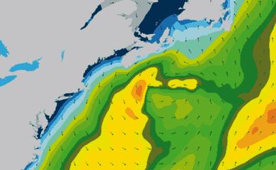 Prévisions de houle 1 à 10 jours Cap Cod, New York WAM 54km