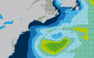 Prévisions de houle 11 à 16 jours Cap Cod, New York WAM 54km