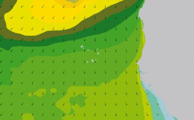 Prévisions de houle 1 à 10 jours Cap-Vert, Sénégal WAM 54km