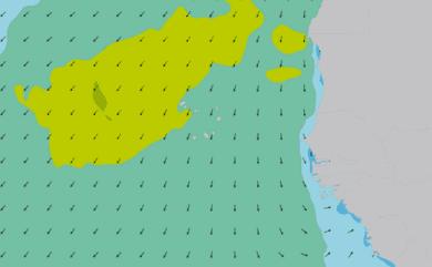Prévisions de houle 11 à 16 jours Cap-Vert, Sénégal WAM 54km