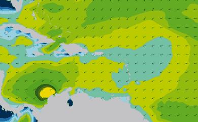 Prévisions de houle 1 à 10 jours Mer des Caraïbes WAM 54km