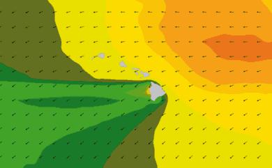 Prévisions de houle 11 à 16 jours Hawaï WAM 54km