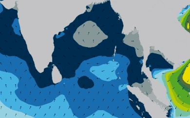 Prévisions de houle 1 à 10 jours Inde, Sri Lanka WAM 54km