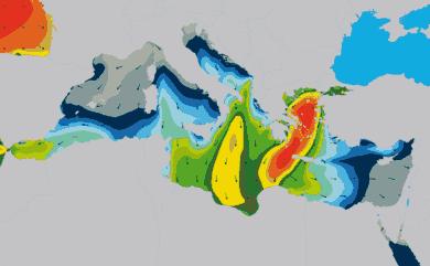 Prévisions de houle 1 à 10 jours Méditerranée WAM 54km