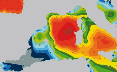 Prévisions de houle 1 à 10 jours Méditerranée Ouest WAM 54km