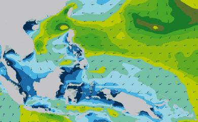 Prévisions de houle 11 à 16 jours Philippines WAM 54km