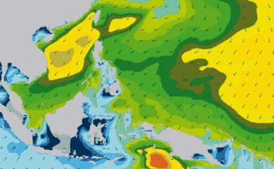Prévisions de houle 1 à 10 jours Philippines WAM 54km