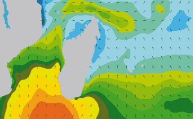Prévisions de houle 1 à 10 jours Reunion, Madagascar, Maurice WAM 54km