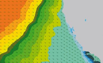 Prévisions de houle 1 à 8 jours Californie WW3 54km