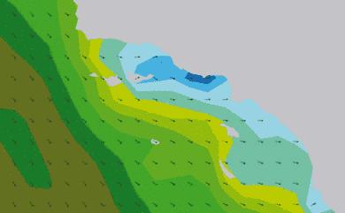 Prévisions de houle 1 à 8 jours Californie du Sud WW3 54km