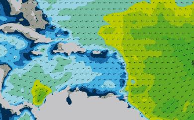 Prévisions de houle 1 à 8 jours Mer des Caraïbes WW3 54km