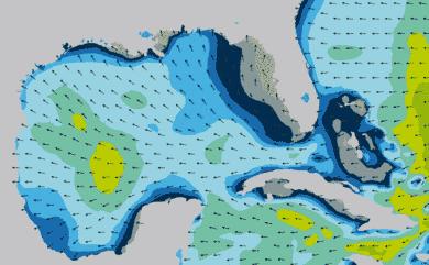 Prévisions de houle 1 à 8 jours Golfe du Mexique, Floride WW3 54km