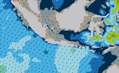 Prévisions de houle 1 à 8 jours Indonésie WW3 54km