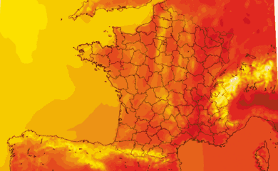 Prévisions de températures pour la France