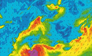 Prévisions de vent 11 à 16 jours Cap Cod, New York GFS 27km