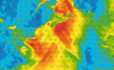Prévisions de vent 1 à 10 jours Cap Cod, New York GFS 27km