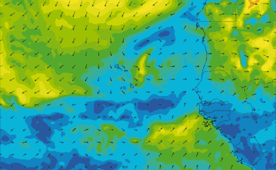 Prévisions de vent 1 à 10 jours Cap-Vert, Sénégal GFS 27km